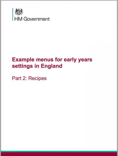 HM Government: Early Years Menu - Part 2